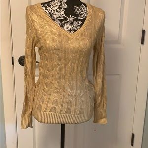 Metallic Gold sweater, NEW, size S